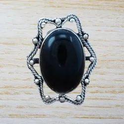 Black Onyx Gemstone 925 Sterling Silver Handmade Ring