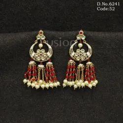Designer Beaded Hanging Earrings