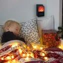 Flame Space Heater With Remote Control