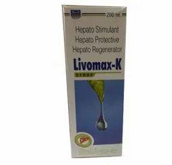 Livomax-K Hepato Stimulant Hepato Protective Hepato Regeneratoe Liver Tonic, 200 Ml
