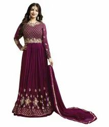 Embroidery Long Ladies Gown