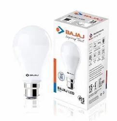 Ceramic Round 15 W Bajaj LED Bulb, For Home