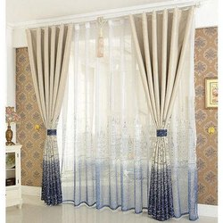 Printed Polyester Window Curtain Fabric, GSM: 200