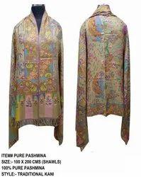 Pure Pashmina Kani Shawls (Hand Made Hand Woven )