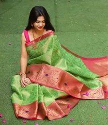 Silk R Firozi Gajari Green Ladies Sarees