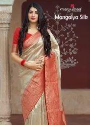 Manjubaa Mangalya Banarasi Silk Designer Printed Saree Catalog