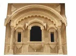 Carved Stone Jharokha