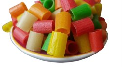 Colored Pipe Fryums, Packaging Size: 25 Kg