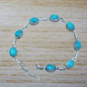 Beautiful Amethyst Gemstone 925 Sterling Silver Bracelet