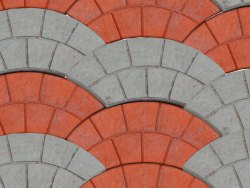 Arch Shape Interlocking Cement Paver Block, Dimensions: 10 X 8 Inch, Thickness: 50 Mm