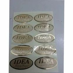 Printed Adhesive Paper Leaf Printing Stickers, For Advertising