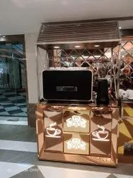 Stainless Steel Display Counter with chet