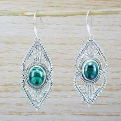 925 Sterling Silver Jewelry Natural Malachite Gemstone