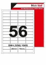 A4 LABEL SHEET LS56L ( 48mm X 19mm ) STICKWELL