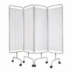 4 Fold White Hospital Folding Screen