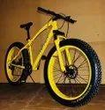 Yellow Ferrari Jaguar Fat Tyre Cycle