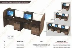 Wooden Back To Back Workstation With Side Partition
