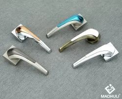 Funky Most Used U Notched Colorful Zamak Door Lever Handle-37