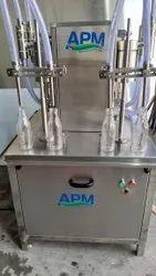 Semi Automatic Four Head Liquid Filling Machine