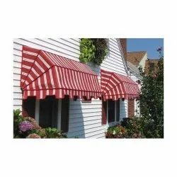 Curve Red Pvc Awning Window