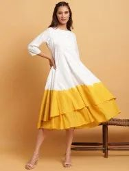 Janasya Women's Off White Cotton Kurta(J0105)