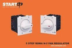 Anchor White 5 Step Roma Modular Fan Regulator