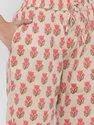 Jaipur Kurti Women Beige Floral Print Straight Cotton Sleepwear