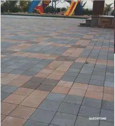 Concrete 60mm Plain Quad Stone Tile, Size: 150x150mm