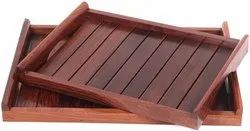 Urban King Rosewood Sheesham Serving Tray Set Of 2