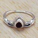 925 Sterling Silver Jewelry Garnet Gemstone Ring