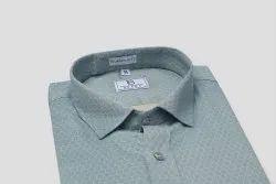 Boros Cotton Honeycomb Blue Formal Shirt, Machine wash