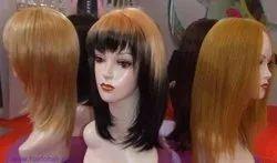 Human Hair Brown Women Wigs, For Parlour