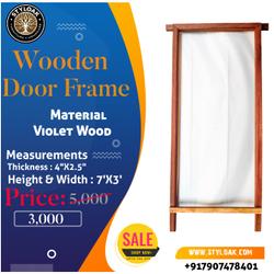 Wooden Door Frame, Frame Material: Violet Wood, Size: 4