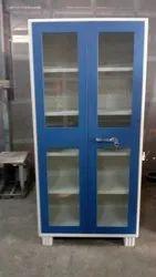 Mild Steel Blue Glass Door Office Cupboard