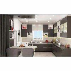 Modern Anchor Grey L Shaped Kitchen
