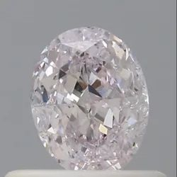 Oval 0.50 Very Light Pink SI2 GIA Certified Natural Diamond