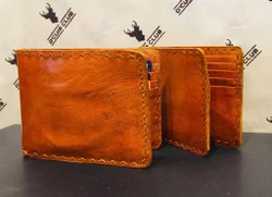 Multicolor Bi Fold Leather Wallets For Men, Card Slots: 6
