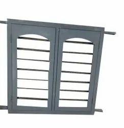 Glossy Gray Metal Windows