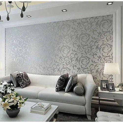 Printed Living Room Pvc Wallpaper Size, Wallpaper For Living Rooms
