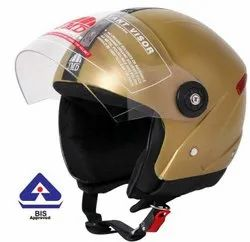 Grand Premium Golden Open/ Half Face Helmet