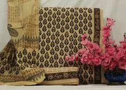 Salwar Kameez Sanganeri Hand Block Print Dress Materials With Cotton Dupatta