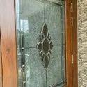 Printed Modern Design Door Glass, Thickness: 1.5 Mm, Size: 6 X 1.5 Feet