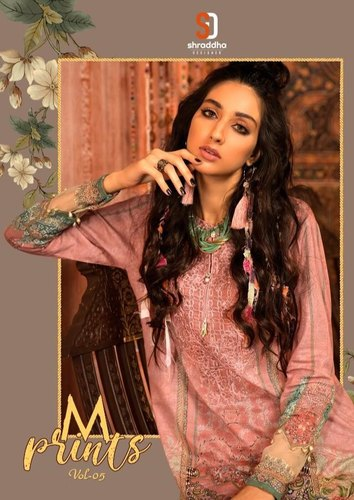 M Prints vol 5 - Heavy Designer Karachi Embroidery Salwar Suits