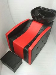 Black And Red Stripped Spa Sink Chair