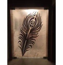 Mayur Pankh Digital Printed Door Glass