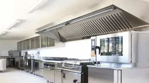 Stainless Steel Industrial Kitchen Exhaust Hood, Rs 1500 /feet | ID: 22913796533