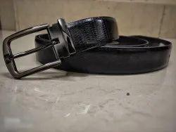Black Zinc Best Quality Men Pu Leather Belt