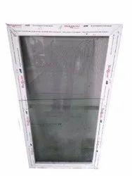 White UPVC Net Window, Size/Dimension: 6x3 Feet