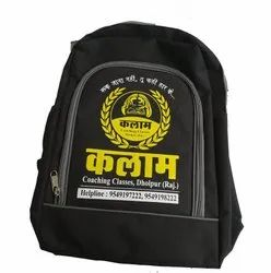 Nylon Black Printed School Bag, For Casual Backpack