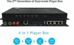 Black Huidu Hd A4 Multimedia Player, Packaging Type: Box